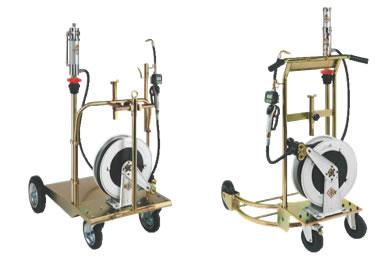 Kit mobil de ulei pentru butoi actionat de aer comprimat