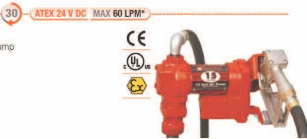 Pompe ATEX benzina model FR2405CE/24V