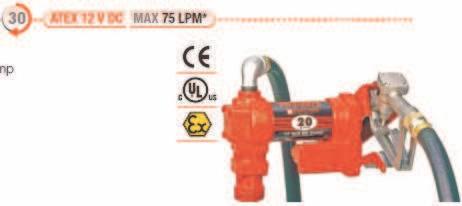 Pompe ATEX benzina model FR4205CE/12V