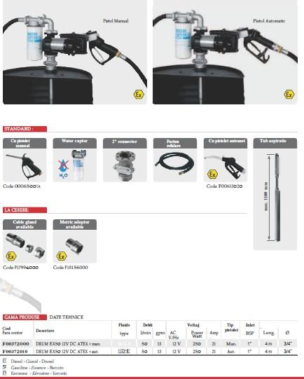 Pompe ATEX benzina/motorina Piusi Drum EX50