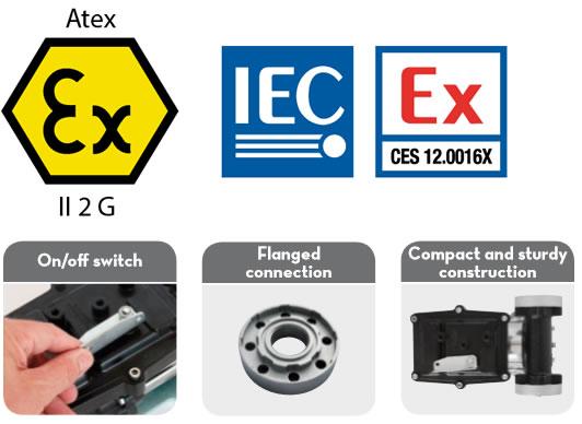 Pompa ATEX benzina/motorina de12V Piusi EX 50