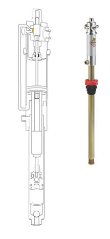 Pompe cu aer comprimat cu dubla actiune